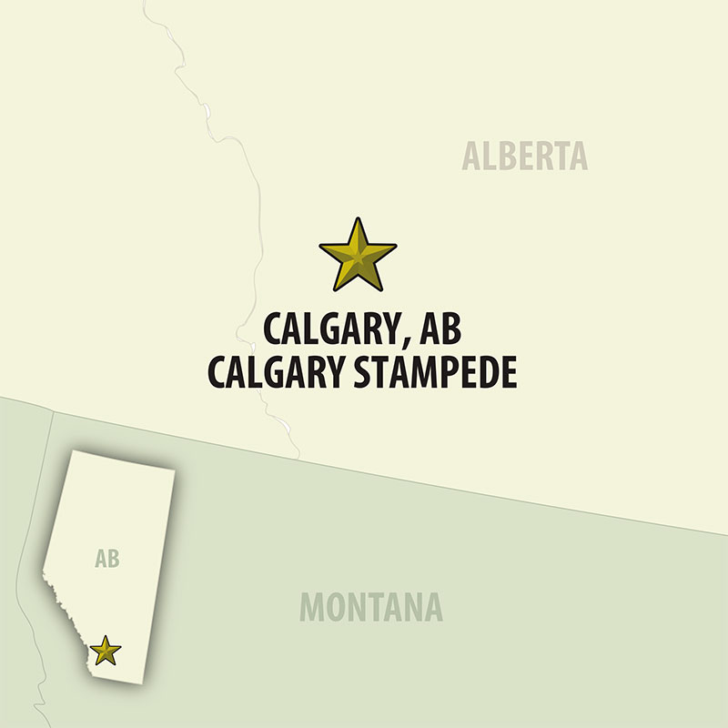 6 Day Calgary Stampede Finals (06CCFG-071322) Map