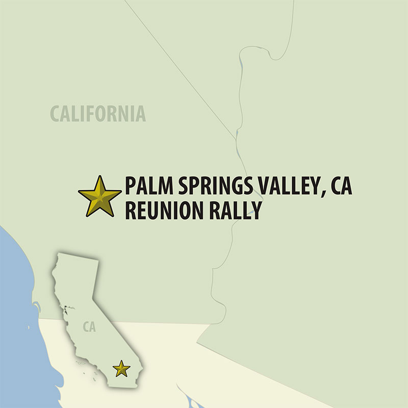 6 Day Palm Springs Valley Bash (06URRP-040222) Map