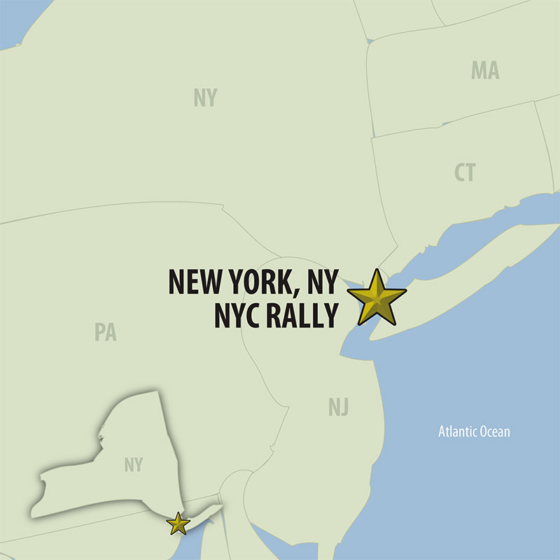 6 Day New York City Your Way (06UYWP-082921) Map