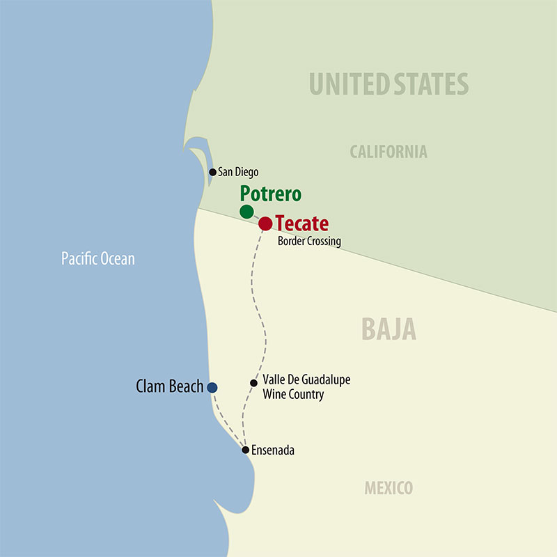 7 Day Baja Wine and Dine (07MBWF-110221) Map