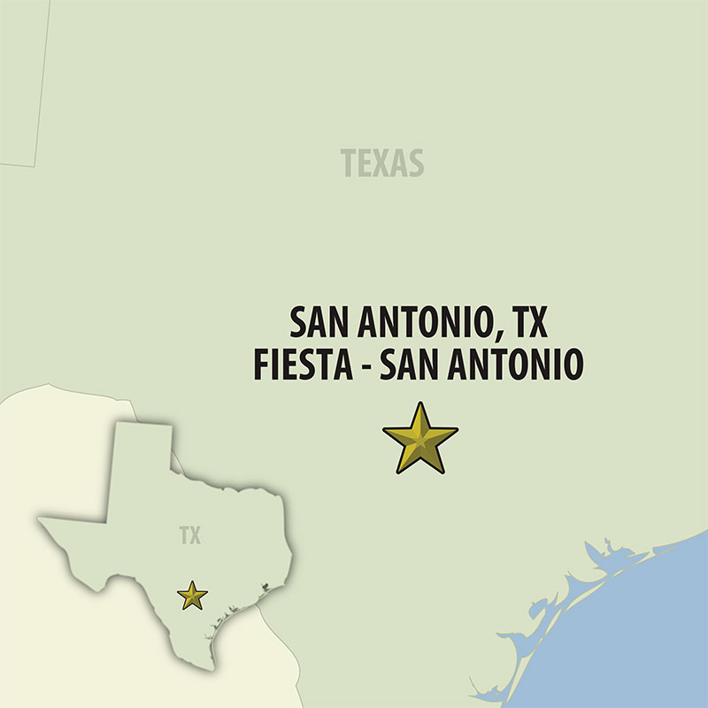 7 Day San Antonio Fiesta (07USAG-042119) Map