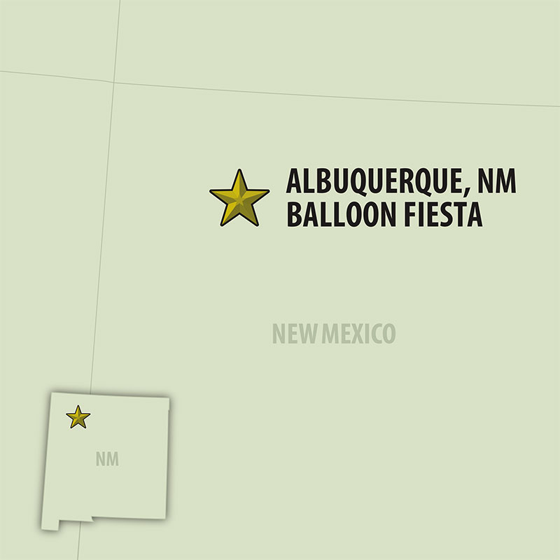 8 Day Albuquerque Balloon Fiesta (08UABW-100120) Map