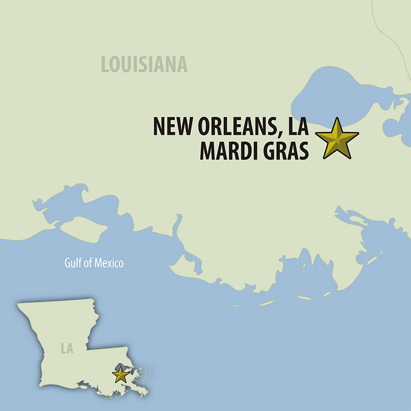 9 Day Mardi Gras (09UMGP-022222) Map