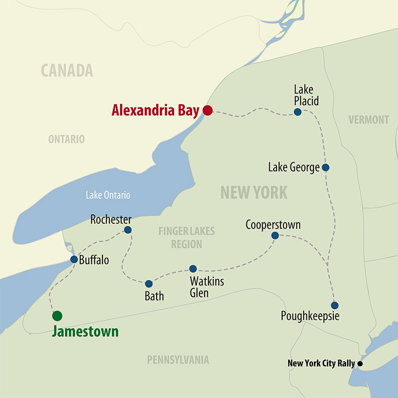 24 Day Upstate New York (24UNYW-081220) Map