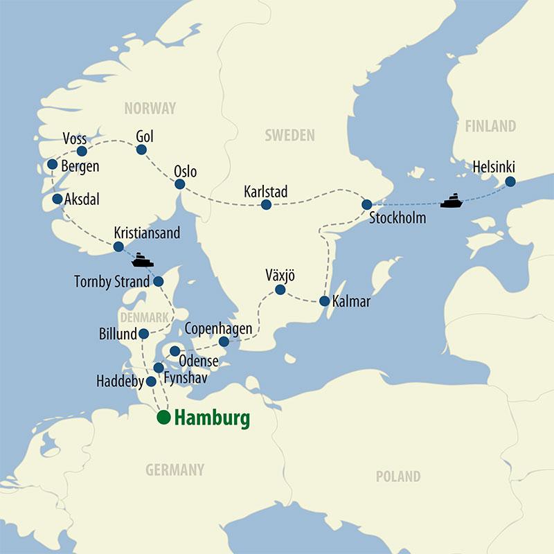 29 Day Scandinavia (29OSCP-082620) Map