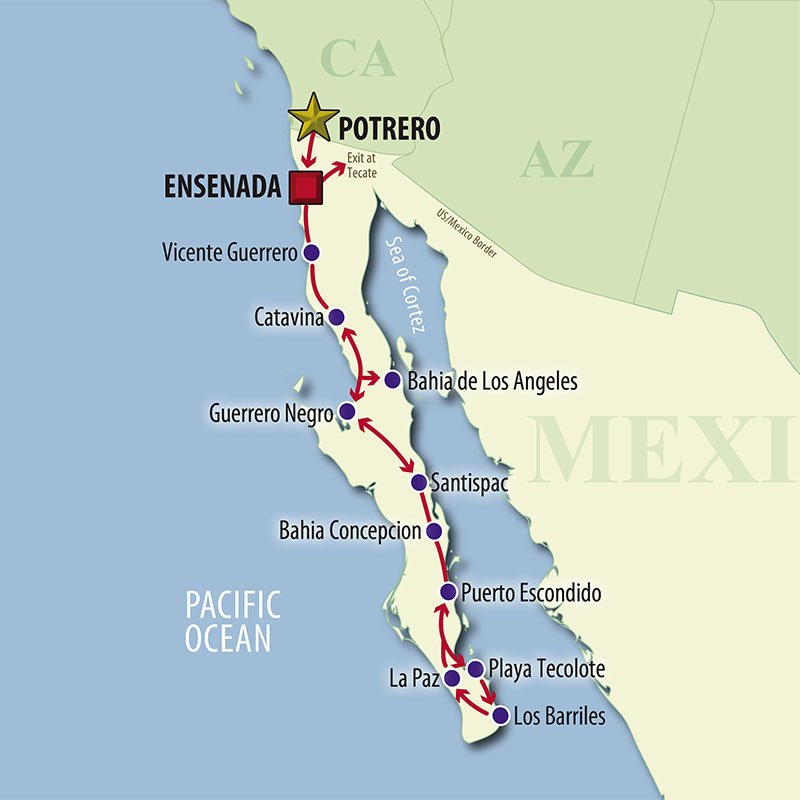 37 Day Baja Winter Escape (37MBWP-020319) Map