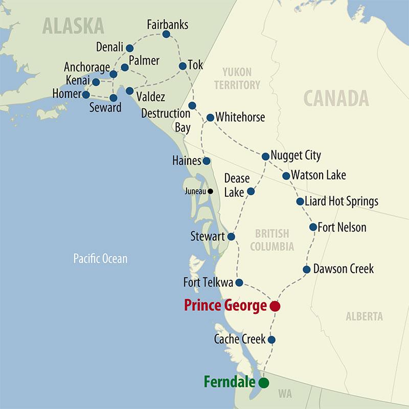 52 Day Alaska Deluxe (52AADP-060121) Map