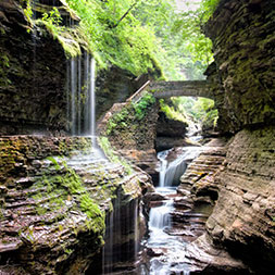 Explore the Finger Lakes Region, Adirondack Mountains and Niagara Falls.