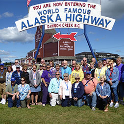 Travel the Alaska Highway through majestic landscapes and untouched wilderness.