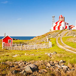 A land of lighthouses, lobsters, rugged shores, and rich Viking legends.